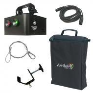 American DJ Galaxian 3D MKII Red & Green Aerial Effect Laser Light with Travel Bag, Truss Cla...