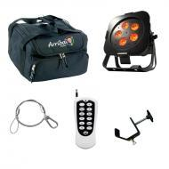 American DJ WiFly Par QA5 Battery Powered Wireless DMX Wash LED Light with RFC Remote, Travel Bag...