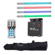 American DJ LED Pixel Tube 360 System (4) Tubes & LED Pixel 4C Controller with LED RC2 Remote...