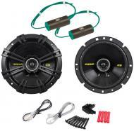 "Kicker CS654 Car Audio 6.5"" Coaxial 300 Watt Full Range Pair Speakers with 0-600Hz Bass Bloc..."