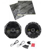 "Kicker CS674 Car Audio 6.75"" Coaxial 300 Watt Full Range Pair Speakers with Speaker Door Kit"