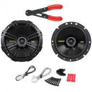 "Kicker CS674 Car Audio 6.75"" Coaxial 300 Watt Full Range Pair Speakers with Wire Stripper Tool"