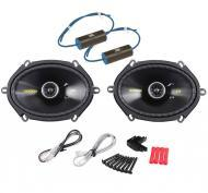 "Kicker CS684 Car Audio 6x8"" 5x7"" Coaxial 225 Watt Full Range Pair Speakers with 0-300Hz..."