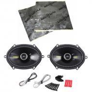 "Kicker CS684 Car Audio 6x8"" 5x7"" Coaxial 225 Watt Full Range Pair Speakers with Speaker..."