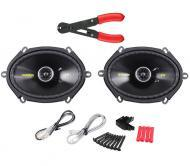 "Kicker CS684 Car Audio 6x8"" 5x7"" Coaxial 225 Watt Full Range Pair Speakers with Wire St..."