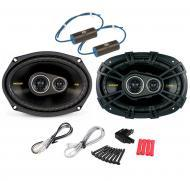 "Kicker CS6934 Car Audio 6x9"" 3-Way 300 Watt Full Range Pair Speakers with 0-300Hz Bass Blockers"