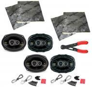"Kicker (2) CS6934 Car Audio 6x9"" 3-Way 300 Watt Full Range Pair Speakers with Speaker Door K..."