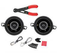 "Kicker CS354 Car Stereo 3 1/2"" Coaxial 90 Watt Full Range Pair Speakers with Wire Stripper Tool"