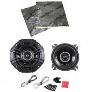 "Kicker CS44 Car Stereo 4"" Coaxial 150 Watt Full Range Pair Speakers with Speaker Door Kit"