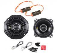 "Kicker CS44 Car Stereo 4"" Coaxial 150 Watt Full Range Pair Speakers with 0-1.2Khz Bass Blockers"