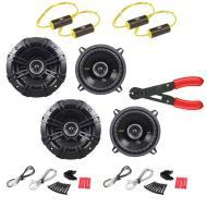 "Kicker (2) CS54 Car Stereo 5.25"" Coaxial 225 Watt Full Range Pair Speakers with 0-800Hz Bass..."