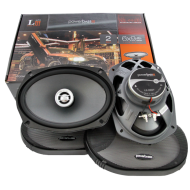 Powerbass L2-692T 6x9-Inch Thin Coaxial Speakers w/ Wave Guide Tweeter Lens