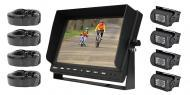 "PYLE PLCMTR104 Dual DC Volt Truck Rear View Camera w/ 10.1"" TFT LCD Monitor"