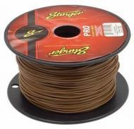 Stinger SPW318BR Car Audio 18 Gauge Power or Ground Single Conductor Brown Wire - 500Ft Cable Roll