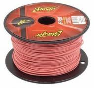 Stinger SPW318PK Car Audio 18 Gauge Power or Ground Single Conductor Pink Wire - 500Ft Cable Roll