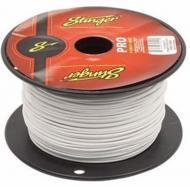 Stinger SPW318WH Car Audio 18 Gauge Power or Ground Single Conductor White Wire - 500Ft Cable Roll