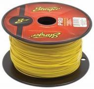 Stinger SPW318YL Car Audio 18 Gauge Power or Ground Single Conductor Yellow Wire - 500Ft Cable Roll