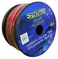 Sound Quest SQVLP0R Car Audio 1/0 Gauge Power or Ground Red Wire - 50 Foot Spool Cable