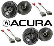 "Acura Integra 1986-2001 Kicker Factory 6 1/2"" Coaxial Speaker Replacement (2) CS654 Package New"