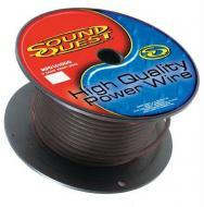 Sound Quest RMAX4B100 Car Audio 4 Gauge Power or Ground Wire 100 Foot Spool Cable - Black