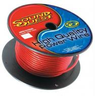 Sound Quest RMAX4R100 Car Audio 4 Gauge Power or Ground Wire 100 Foot Spool Cable - Red