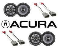 "Acura Integra 1986-2001 Kicker Factory 6 1/2"" Coaxial Speaker Replacement (2) KS65 Package New"