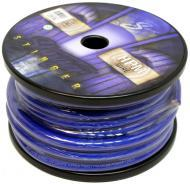 Stinger SHW10B Car Audio 1/0 Gauge Power or Ground Wire Matte Blue 50 Foot Cable Roll