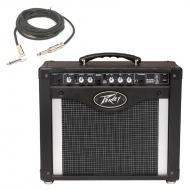 "Peavey Rage 258 Trans Tube 8"" Combo Amp 25 Watt Guitar Amplifier with 1/4"" Instrument C..."