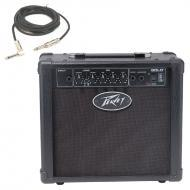 "Peavey Solo Trans Tube 8"" Combo Amp 12 Watt Guitar Amplifier with 1/4"" Instrument Cable"