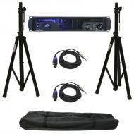 Peavey IPR2 5000 Pro Audio PA Speaker Power Amplifier 5000 Watt Amp with Speaker Stands & (2)...