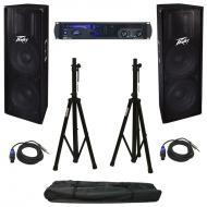 Peavey IPR2 7500 Pro Audio PA Speaker Power Amplifier 3000 Watt Amp with Stands, (2) Speakon to 1...