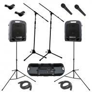 Peavey Escort 3000 All in One Portable 7 Channel PA Speaker 300 Watt System with (2) PVI 100 Micr...