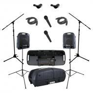 Peavey Escort 5000 All in One Portable 8 Channel PA Speaker 500 Watt System with (2) PVI 100 Micr...