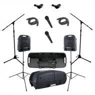 Peavey Escort 6000 All in One Portable 9 Channel PA Speaker 600 Watt System with (2) PVI 100 Micr...