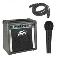 "Peavey Solo Portable Battery Powered 8"" PA Speaker System with PVI 100 Microphone & XLR ..."