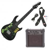 Peavey Rockmaster 3/4 Student Marvel Hulk Beginner Electric Guitar with Cable, Picks, Strap &...