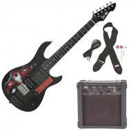 Peavey Rockmaster 3/4 Student Marvel Iron Man Beginner Electric Guitar with Cable, Picks, Strap &...