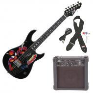 Peavey Rockmaster 3/4 Student Marvel Spider Man Beginner Electric Guitar with Cable, Picks, Strap...