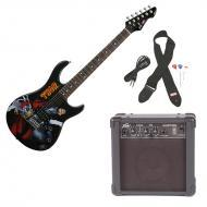 Peavey Rockmaster Full Size Marvel Thor Super Hero Electric Guitar with Cable, Picks, Strap &...