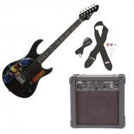 Peavey Rockmaster Full Size Marvel Wolverine Super Hero Electric Guitar with Cable, Picks, Strap ...