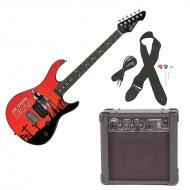 Peavey Rockmaster Full Size The Walking Dead - Grave Digger Rick Electric Guitar with Cable, Pick...