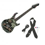 Peavey Rockmaster Full Size The Walking Dead - Michonne Character Maple Neck 21 Fret Electric Guitar