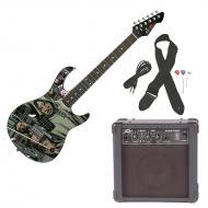 Peavey Rockmaster Full Size The Walking Dead - Michonne Electric Guitar with Cable, Picks, Strap ...