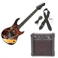 Peavey Rockmaster Full Size The Walking Dead - Zombies Walkers Electric Guitar with Cable, Picks,...
