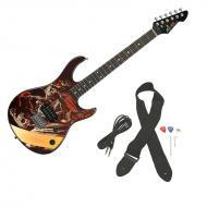 Peavey Rockmaster Full Size The Walking Dead -Zombies Walkers Maple Neck 21 Fret Electric Guitar