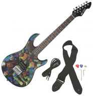 Peavey Rockmaster Full Size TMNT Teenage Mutant Ninja Turtles Maple Neck 21 Fret Electric Guitar