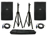 "Peavey (2) PVX15 Pro Audio DJ Passive 800 Watt 15""Full Range PA Speaker with Tripod Stands &..."