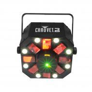 "Chauvet DJ Swarm 5 FX 3-in-1 LED Light w/ RGBAW Rotating Derby & 17"" Beam Angle"