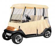 Armor Shield 2 Passenger Golf Cart 4 Sided Enclosure Tan Color w/ Included Carry Case