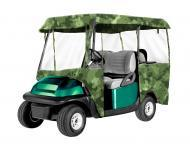 Armor Shield 4 Sided 4 Passenger Golf Cart Enclosure Camouflage Color w/ Clear Window Material
